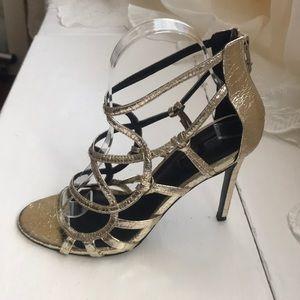 Topshop  Racket cage heels in gold